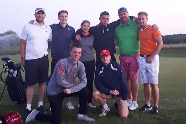 Charity golfers