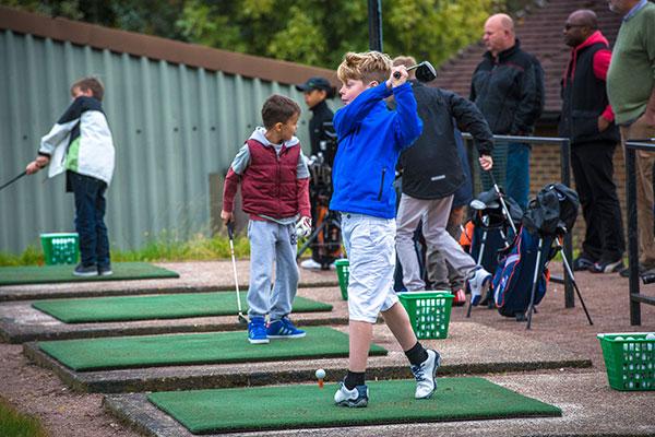 Junior golf boy swing